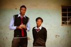 Students at high school in Lusaka, Zambia